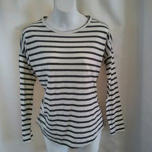 Forever 21 Striped Knit Long Sleeve Shirt, S